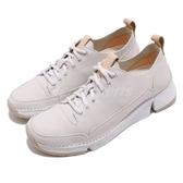 Clarks 休閒鞋 Tri Spark. 白 三瓣底 真皮鞋面 女鞋 【PUMP306】 CLF38904SC19