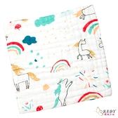 六層紗布巾 手帕小方巾 五入組 神話獨角獸 (嬰兒/幼兒/寶寶/新生兒/baby/兒童)