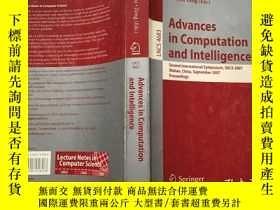 二手書博民逛書店Advances罕見in Computation and Int