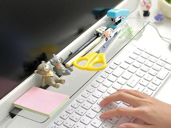 創意DIY 電腦螢幕顯示器收納架 文具桌面整理收納 公仔展示架 螢幕留言板貼【SV6179】BO雜貨