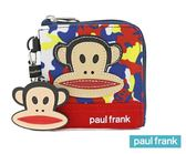 Backbager 背包族【Paul Frank大嘴猴】繽紛迷彩猴系列 零錢包/錢包/萬用包/皮夾/短夾_藍色