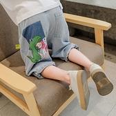 男童牛仔短褲 男童夏季短褲中大童新款兒童五分牛仔褲薄款夏天男孩七分褲子-Ballet朵朵