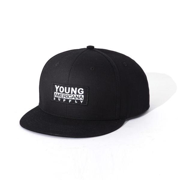 Y.A.S 時尚 型男 SNAP BACK  LOGO 潮帽 黑色