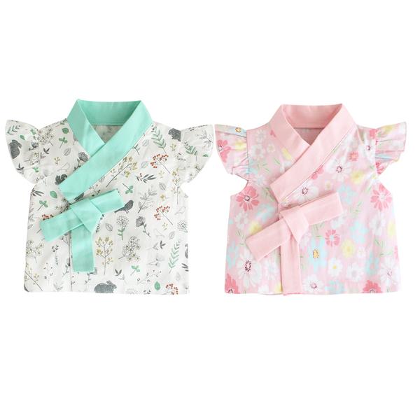 短袖外套 韓風飛袖造型上衣短版外套 荷葉袖短上衣 傳統造型服 角色扮演 韓服 10019
