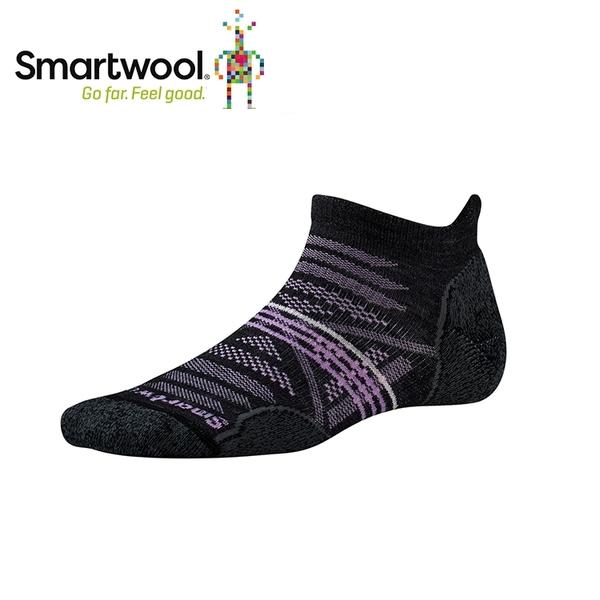 【美國 SmartWool 女Phd戶外輕量減震踝襪《炭黑色》】SW001306/保暖/戶外/運動襪
