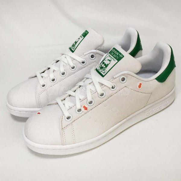【NG出清】adidas Stan Smith W 白 綠 女鞋 休閒鞋 帆布版 雙腳鞋面 鞋帶有汙點【PUMP306】