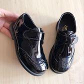 2019時尚大氣韓國進口兒童男童單鞋黑色演出鞋女童亮皮皮鞋禮服鞋LZ1226【甜心小妮童裝】