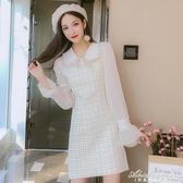 長袖小香風洋裝子女裝秋冬裝2020年流行新款收腰顯瘦氣質A字裙 黛尼時尚精品