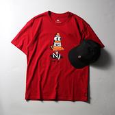 NIKE 短T SB TEE CONEY 紅 三角錐 卡通塗鴉 短袖 男 (布魯克林) DJ1225-687