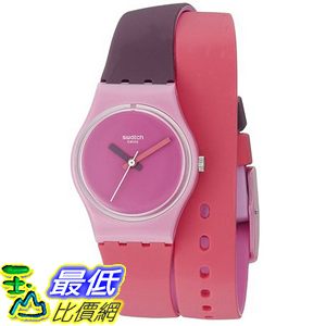 [美國直購] Swatch Women s LP137 Fun In Pink Analog Display Quartz Multi-Color Watch 手錶