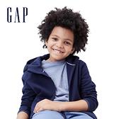 Gap男童 簡約插肩袖運動連帽外套 541099-海軍藍