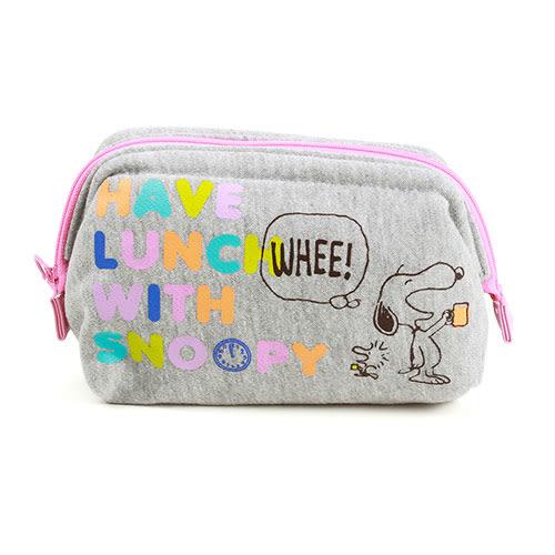 《Marimo》SNOOPY厚鋪棉大開口化妝包(繽紛午餐)★funbox生活用品★_FT70621