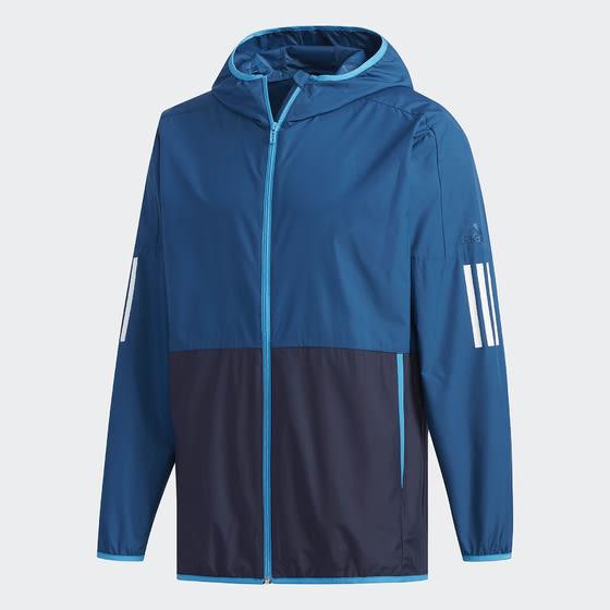 Adidas M S2S SC WD JK 男裝 外套 連帽 休閒 慢跑 防風 舒適 拼接 藍【運動世界】DV1047