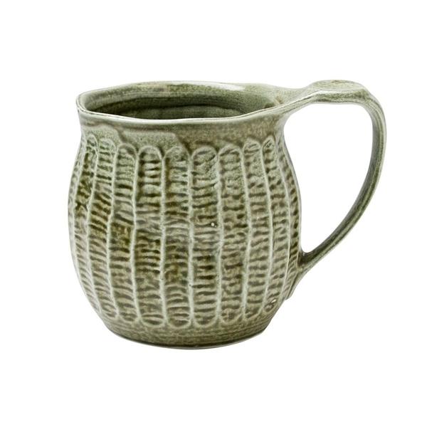【日本製】日本製 大容量陶製馬克杯 綠色 SD-6252 - 日本製 大容量 陶製馬克杯 馬克杯
