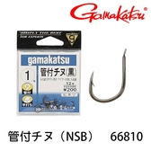 漁拓釣具 GAMAKATSU 管付チヌ [鍍黑] [黑鯛鉤]