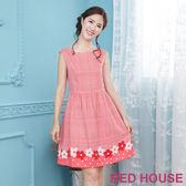 Red House 蕾赫斯-格紋花朵無袖洋裝(共2色)