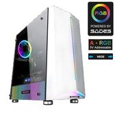 全新 SADES AMMIT 阿米特-白 全透側A‧RGB 寬體電腦機箱