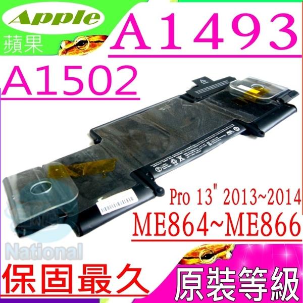 APPLE 電池(原裝等級)-蘋果 A1493,A1502, Pro 13吋,A1502-2875,ME864xx/A,ME865xx/A,ME866xx/A, ME864LL