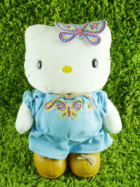 【震撼精品百貨】Hello Kitty 凱蒂貓~KITTY絨毛娃娃-蝴蝶圖案-藍色