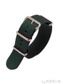 代用Briston手錶帶周冬雨同款布里斯頓男女尼龍錶帶經典綠色黑色 安妮塔小舖