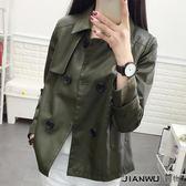 裝韓范長袖寬鬆百搭氣質皮夾克