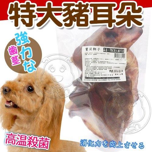 【培菓平價寵物網】寶貝餌子》795C特大豬耳朵寵物零食-300g