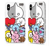 King*Shop~韓國BT21防彈少年團iPhoneX防摔手機殼iPhone 8P透明全包防摔軟殼