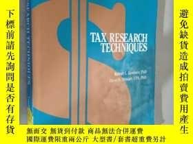 二手書博民逛書店Tax罕見Research Techniques by Robert L. Gardner and Dave N.