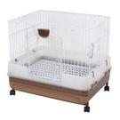 日本Marukan最新款高抽屜式兔籠 MR-995粉紅色/MR-994咖啡色 .貓籠、狗籠、天竺鼠籠、貂籠