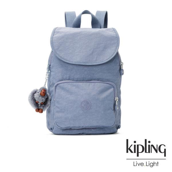 Kipling紫羅蘭灰素面後背包