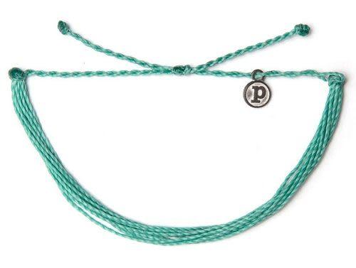 Pura Vida 知名美國衝浪品牌 SOLID AQUA 湖水綠色 基本款 手環