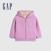 Gap女幼童 Logo仿羊羔絨連帽外套 594192-淡紫色