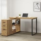康迪仕L型書桌-黃金橡木色