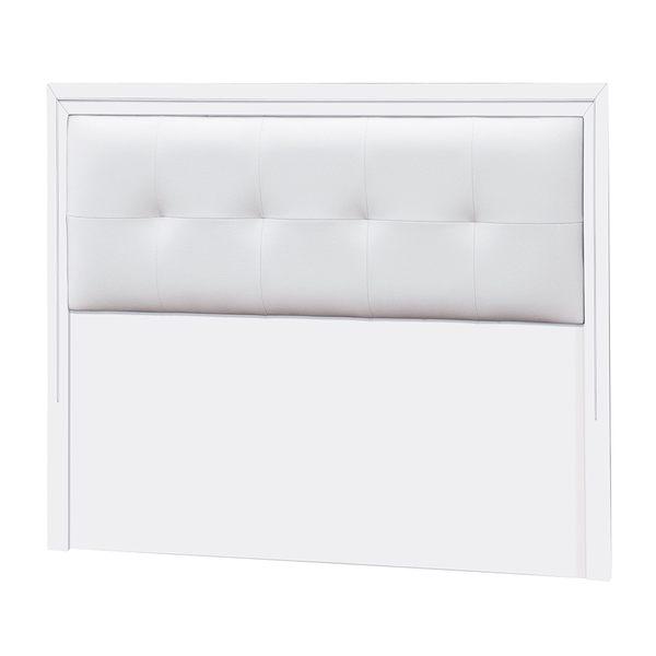 【森可家居】金莎皮面3.5尺白色床頭片(木心板) 7JX87-12 單人 簡約北歐風