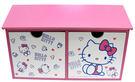 【震撼精品百貨】Hello Kitty 凱蒂貓~HELLO KITTY 多多積木屋頂雙抽收納盒
