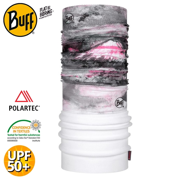 【BUFF 西班牙 POLAR保暖頭巾 Plus 《噴煙火山》】123778/圍脖/帽子/口罩/圍巾/快乾透氣