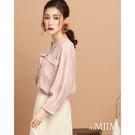 百貨專櫃女裝 正面雙口袋增添造型 舒適質料穿著溫暖 高彩度格紋亮眼特色