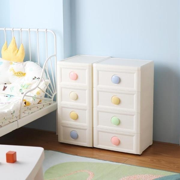 多層收納櫃兒童寶寶衣櫃五層塑料抽屜式收納櫃子儲物櫃夾縫置物櫃 滿天星