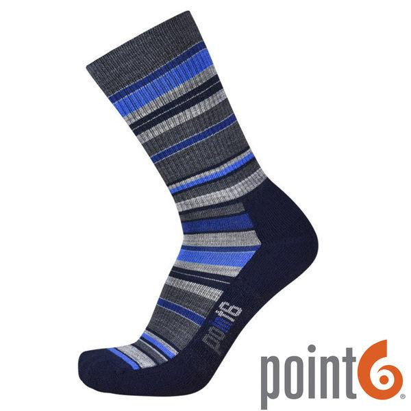 【POINT 6 美國】STAX LIGHT CREW 健行排汗羊毛襪 『藍』22611727 露營 休閒 保暖襪 羊毛
