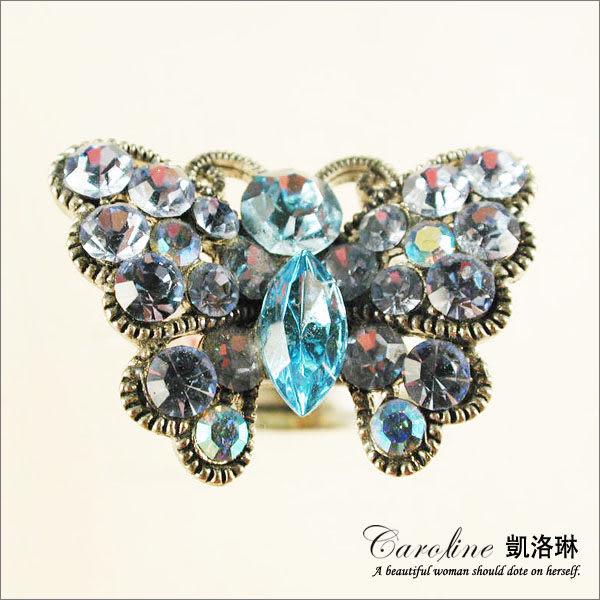 《Caroline》★韓國進口甜心可愛設計施華洛世奇水晶造型戒指【可調整型】39695