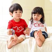 親子裝。Love you 純色短袖T恤/情侶裝(小孩) (AI50605) *繪米熊童裝*
