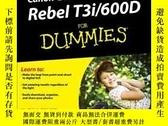 二手書博民逛書店Canon罕見EOS Rebel T3i   600D For DummiesY410016 Julie Ad