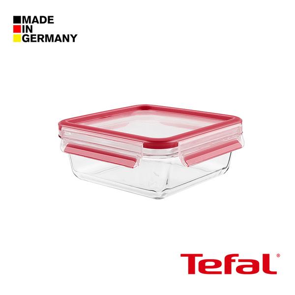 Tefal 特福 德國EMSA原裝- 無縫膠圈3D密封耐熱玻璃保鮮盒(900ML方型)