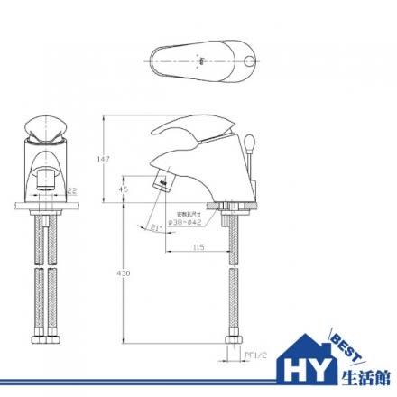 HCG 和成 LF3213TR(MO) 生物光能臉盆無鉛龍頭 -《HY生活館》水電材料專賣店