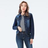 Victoria 針織丹寧外套-女-深藍-V3505578