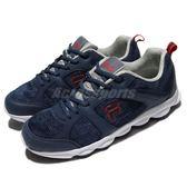 【五折特賣】FILA 慢跑鞋 J971Q 藍 白 休閒鞋 流行 透氣網布 乳膠鞋墊 運動鞋 男鞋【PUMP306】 1J971Q332