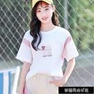 21夏裝字母印花學院風日系衣服女學生短袖韓版t恤女寬鬆體恤衫 夢露時尚