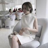 【618好康又一發】寬鬆直筒無袖背心連身裙小個子刺繡a字裙子