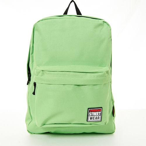 VISION STREET WEAR 潮牌時尚運動休閒尼龍雙肩後背包--蘋果綠-- VB2032LG