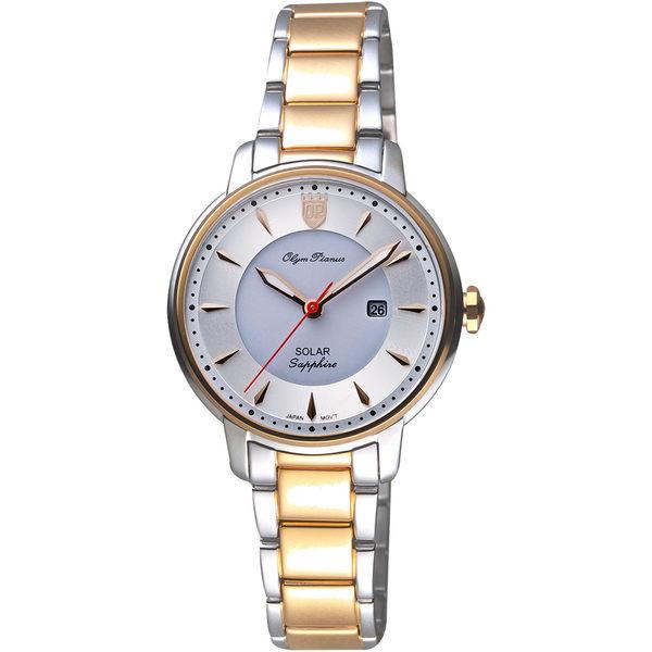 Olympianus 奧柏 典藏簡單愛女錶-銀x雙色版/32mm 2492LSR